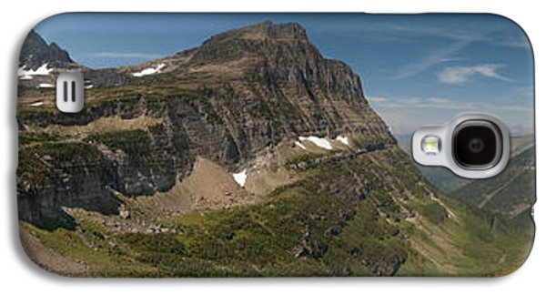 Sun Galaxy S4 Cases - Glacier National Park Panorama Galaxy S4 Case by Sebastian Musial