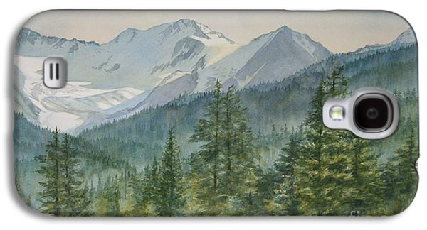 Snow Capped Galaxy S4 Cases - Glacier Valley Morning Sky Galaxy S4 Case by Sharon Freeman