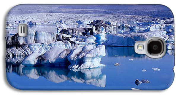 Reflections In River Galaxy S4 Cases - Glaciers Floating On Water, Jokulsa Galaxy S4 Case by Panoramic Images