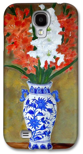 Gladiolas Paintings Galaxy S4 Cases - Glad allover Galaxy S4 Case by Pete Maier