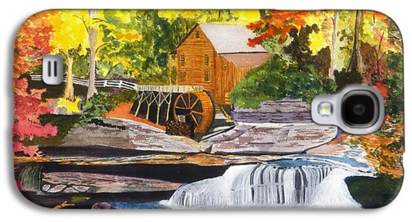 Grist Mill Paintings Galaxy S4 Cases - Glade Creek Grist Mill Galaxy S4 Case by David Bartsch