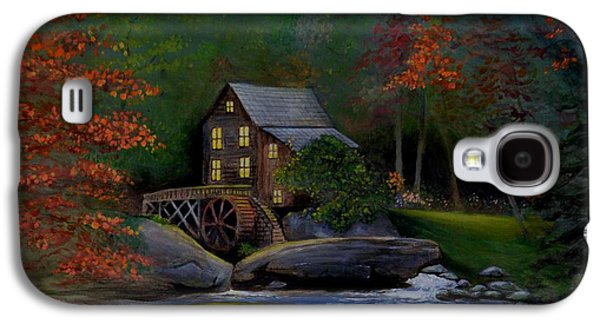 Grist Mill Paintings Galaxy S4 Cases - Glade Creek Grist Mill Galaxy S4 Case by Stefon Marc Brown