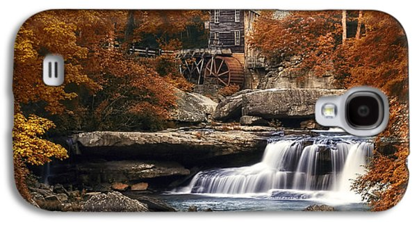 Waterscape Galaxy S4 Cases - Glade Creek Mill in Autumn Galaxy S4 Case by Tom Mc Nemar