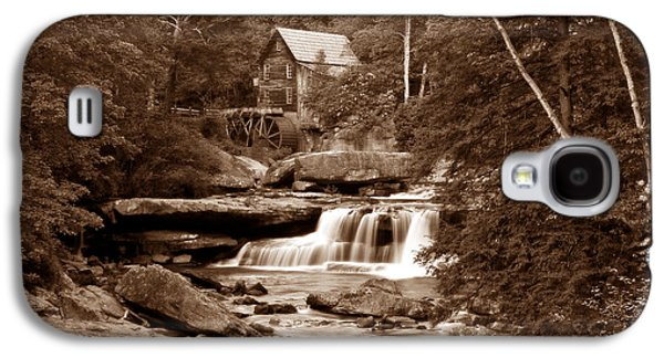Old Mills Galaxy S4 Cases - Glade Creek Mill in Sepia Galaxy S4 Case by Tom Mc Nemar