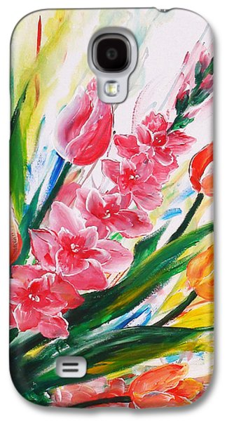 Floral Sculptures Galaxy S4 Cases - Gladiola 2 right Galaxy S4 Case by Marguerite Ujvary Taxner