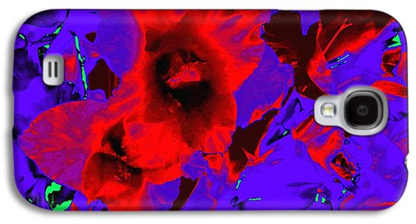Abstract Digital Galaxy S4 Cases - Gladiola Abstract Galaxy S4 Case by Will Borden