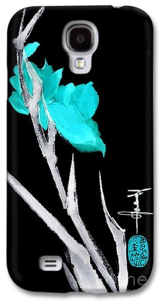 Gladiolas Paintings Galaxy S4 Cases - Gladiola Galaxy S4 Case by Linda Smith
