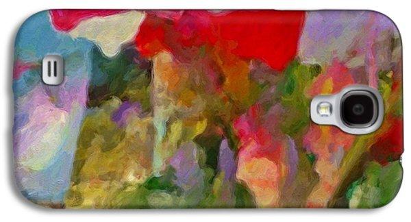 Gladiolas For Sale Roadside - Square Galaxy S4 Case by Lyn Voytershark