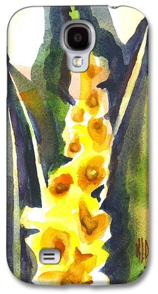 Gladiolas Paintings Galaxy S4 Cases - Gladiolas in Wintertime Galaxy S4 Case by Kip DeVore