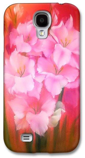 Gladiolas Sunburst Galaxy S4 Case by Fineartist Ellen
