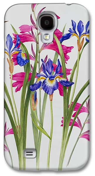 Gladiolus And Iris Sibirica Galaxy S4 Case by Sally Crosthwaite