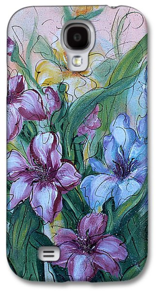 Gladiolas Paintings Galaxy S4 Cases - Gladiolus Galaxy S4 Case by Natalie Holland
