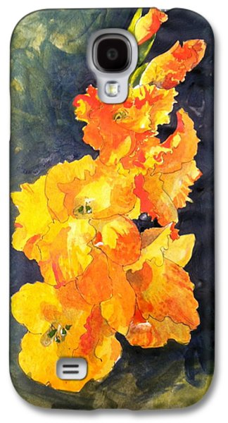Gladiolas Paintings Galaxy S4 Cases - Glads In The Sun Galaxy S4 Case by Margaret Park