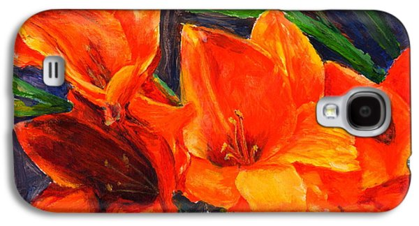 Gladiolas Paintings Galaxy S4 Cases - Glamorous Gladiolas Galaxy S4 Case by Mohamed Hirji