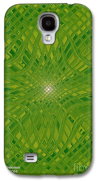 Modern Abstract Glass Art Galaxy S4 Cases - Glass Fantasia Catus 1 No 2 V Galaxy S4 Case by Gert J Rheeders