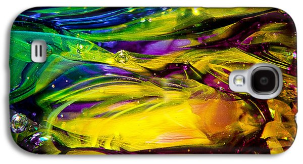 Glass Reflections Galaxy S4 Cases - Glass Macro Abstract RCY1 Galaxy S4 Case by David Patterson