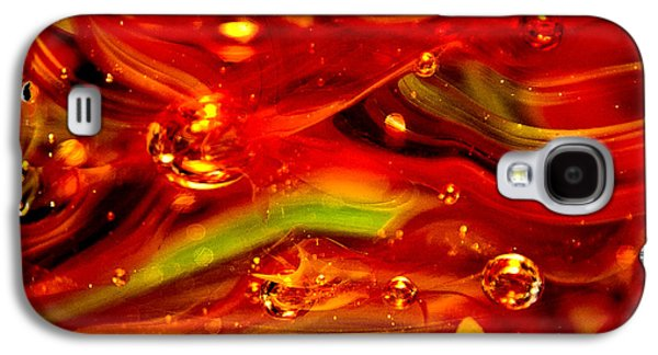 Glass Reflections Galaxy S4 Cases - Glass Macro Abstract RF1CE Galaxy S4 Case by David Patterson