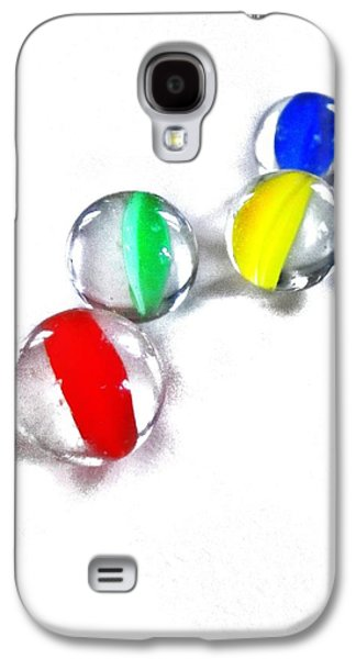 Marble Eye Galaxy S4 Cases - Glass Marbles Galaxy S4 Case by Marianna Mills