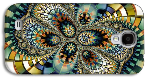 Fractal Art Galaxy S4 Cases - Glass Mosaic-Geometric Abstraction Galaxy S4 Case by Karin Kuhlmann