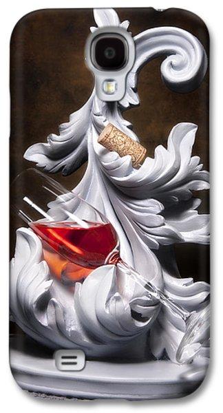 Vino Photographs Galaxy S4 Cases - Glass of Wine with Cork Still Life Galaxy S4 Case by Tom Mc Nemar