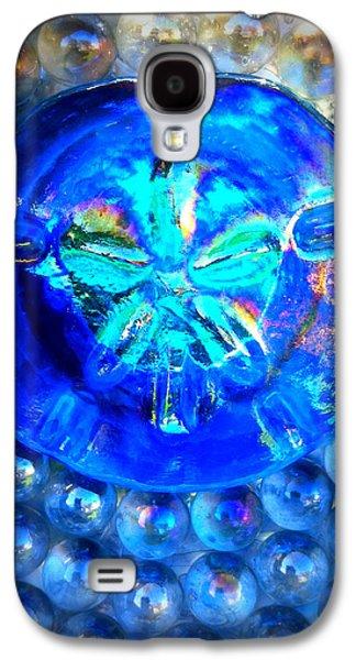 Original Art Glass Art Galaxy S4 Cases - Glass Sand Dollar Galaxy S4 Case by Rebecca Tkaczyk