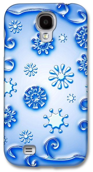 Glass Galaxy S4 Cases - Glass Snowflakes Galaxy S4 Case by Anastasiya Malakhova