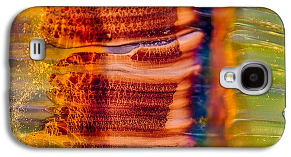 Red Abstract Glass Art Galaxy S4 Cases - Glass Trees Galaxy S4 Case by Omaste Witkowski
