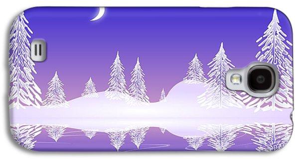 Pines Galaxy S4 Cases - Glass Winter Galaxy S4 Case by Anastasiya Malakhova