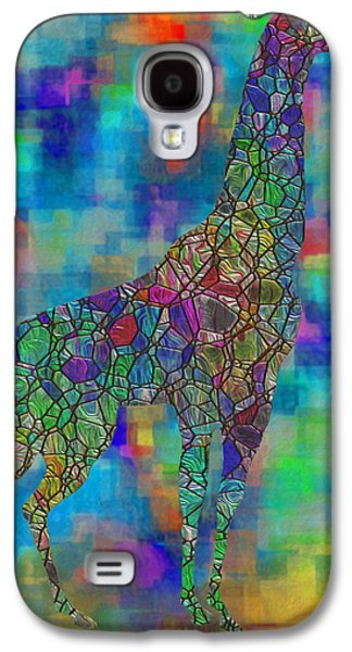 Abstract Digital Art Galaxy S4 Cases - Glassed Giraffe Galaxy S4 Case by Jack Zulli