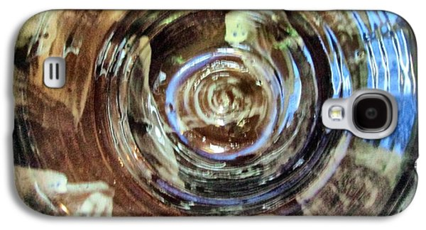Blue Abstracts Ceramics Galaxy S4 Cases - Glazed Clay Photograph Galaxy S4 Case by Martha Nelson