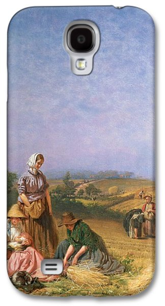Hay Paintings Galaxy S4 Cases - Gleaning Galaxy S4 Case by George Elgar Hicks