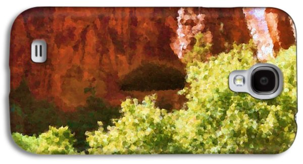 Asbjorn Lonvig Digital Galaxy S4 Cases - Glen Canyon leaves and rocks Painting Galaxy S4 Case by Asbjorn Lonvig