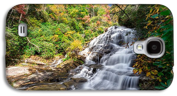 Orange Photographs Galaxy S4 Cases - Glen Falls in North Carolina Galaxy S4 Case by Andres Leon