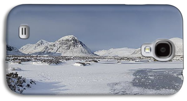 Highlands Digital Art Galaxy S4 Cases - Glencoe and Buchaille Etive Panoramic Galaxy S4 Case by Pat Speirs