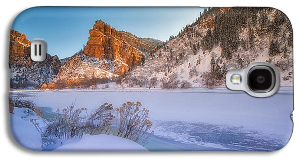 Landscape Acrylic Prints Galaxy S4 Cases - Glenwood Springs Morning Galaxy S4 Case by Darren  White