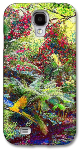 Americans Galaxy S4 Cases - Glimpse of Paradise Galaxy S4 Case by Jane Small