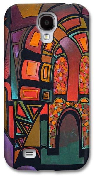 Mix Medium Drawings Galaxy S4 Cases - Glitter Galaxy S4 Case by Deyana Deco