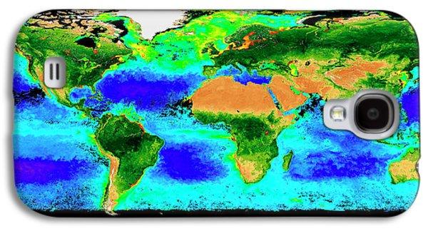 Global Biosphere Galaxy S4 Case by Nasa/seawifs/geoeye