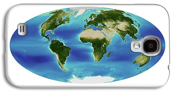 Global Chlorophyll Levels Galaxy S4 Case by Nasa Earth Observatory/ocean Color Web/geoeye