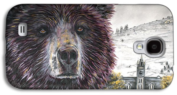 Growling Galaxy S4 Cases - Glorious Griz Galaxy S4 Case by Teshia Art