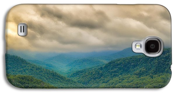 Smokey Mountains Paintings Galaxy S4 Cases - Glorious Mountains Galaxy S4 Case by Donna Murray