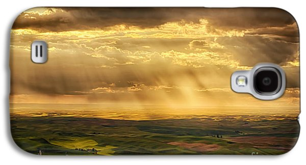 Sun Galaxy S4 Cases - Glory Rays on the Palouse Galaxy S4 Case by Priscilla Burgers