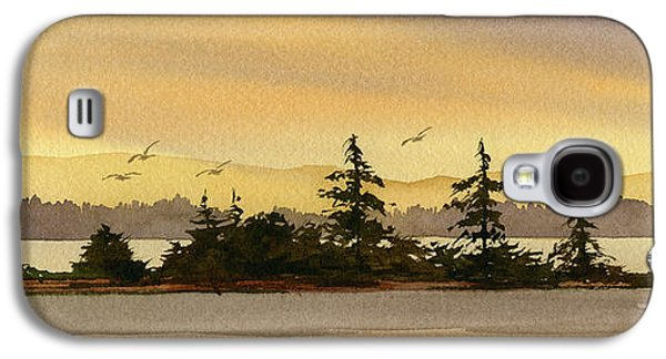 Landscape Greeting Cards Galaxy S4 Cases - Glow of Dawn Galaxy S4 Case by James Williamson