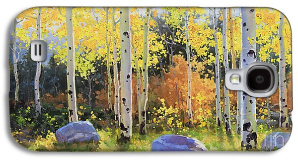 Landscape Metal Prints Galaxy S4 Cases - Glowing Aspen  Galaxy S4 Case by Gary Kim