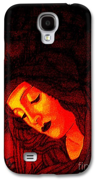 Byzantine Paintings Galaxy S4 Cases - Glowing Botticelli Madonna Galaxy S4 Case by Genevieve Esson