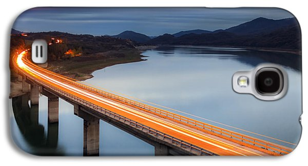Architecture Photographs Galaxy S4 Cases - Glowing Bridge Galaxy S4 Case by Evgeni Dinev