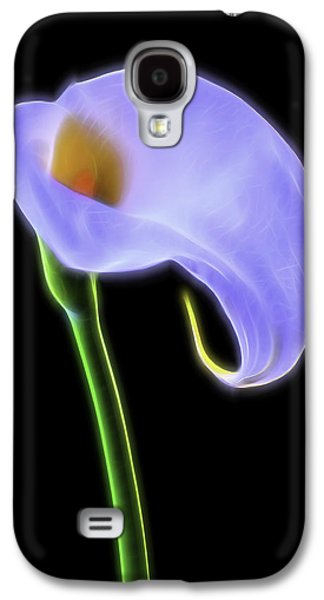Glowing Galaxy S4 Cases - Glowing Calla Lily Galaxy S4 Case by Garry Gay