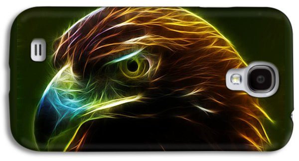 Eagle Mixed Media Galaxy S4 Cases - Glowing Gold Galaxy S4 Case by Shane Bechler