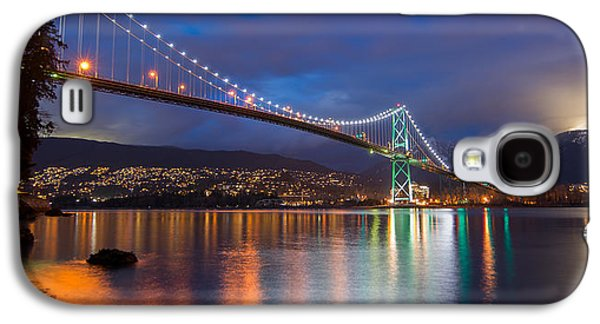 Burrard Inlet Galaxy S4 Cases - Glowing Grouse Mountain Galaxy S4 Case by James Wheeler