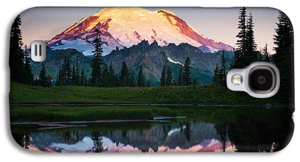 Dramatic Galaxy S4 Cases - Glowing Peak Galaxy S4 Case by Inge Johnsson